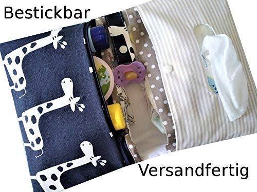 Wickeltasche, Windeltasche XXL mit Namen bestickbar für unterwegs/handmade, ds-handmade dawanda