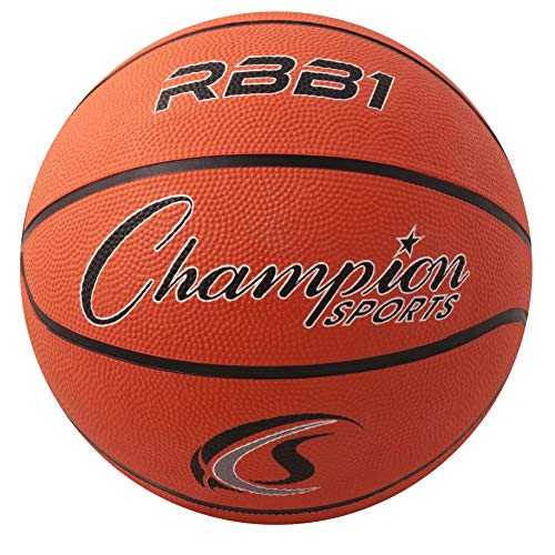Lowest Price! Champion Sports Official Heavy Duty Rubber Cover Nylon Basketballs, Official (Size 7 -...