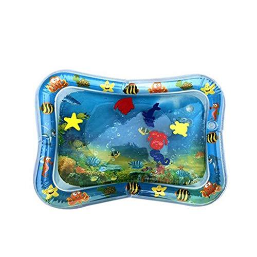Taloit Colchoneta inflable para el agua del tiempo del vientre del bebé, almohadilla inflable del agua segura de la coordinación de los ojos de la mano juguetes educativos para regalos