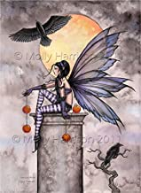Autumn Raven Fairy Fantasy Illustration Fine Art Print