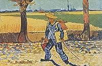 数字によるDIYプレミアムアクリル画 - 塗装済み-ゴッホ - 初心者のための油絵キット - 家の壁の装飾のためのアートクラフト - 40x50cm - フレームレス