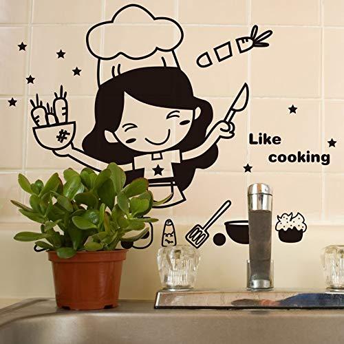 Blour cartoon zoals keuken muur sticker keuken restaurant wanddecoratie kunst sticker decoratie thuis