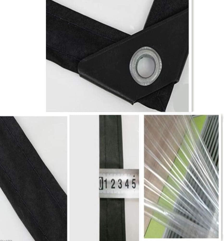 YUMUO Toile cirée Toile cirée imperméable Toile Plastique Transparente Toile cirée Transparente (Couleur: Transparent Taille: 2x6m) 4