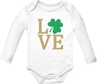 Tstars - Irish Clover Love St Patrick's Day Cute Irish Baby Long Sleeve Bodysuit