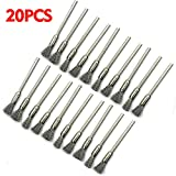 20Pcs Stainless Steel Mini Clean Brush Heating Wire Coils 5cm Cleaning Brush DIY