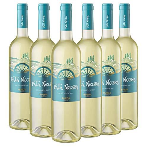 Pata Negra Sauvignon Blanc Vino Blanco D.O Rueda - Caja de 6 Botellas x 750 ml