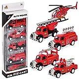 Dreamon Mini Pull-Back Fahrzeuge Spielzeugautos Modelle für Kinder ab 3 Jahren,5 Autos in einem Set...