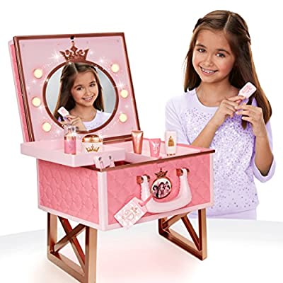Princess Vanity Portable Theatre Light Up Mirror Compartment Case with Accessories 53114-11L
