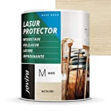 LASUR PROTECTOR AL AGUA MATE Protege, decora y embellece todo tipo de madera. (750 ml, INC...