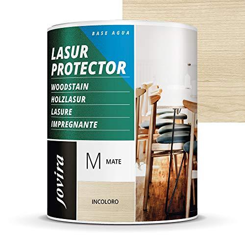 LASUR PROTECTOR AL AGUA MATE Protege, decora y embellece todo tipo de madera. (750 ml, INCOLORO)