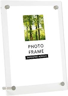 Freahap アクリルフォトフレーム 写真スタンド 横縦置き兼用額縁 クリア (6インチ(KG))