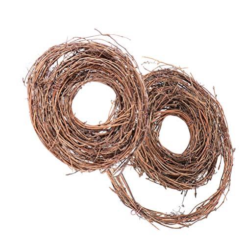 TOYANDONA 2 Rollos Guirnalda de Ramita de Ratán Natural Guirnaldas de Vid de Navidad Guirnaldas de Vid Artesanías de Bricolaje Decoración Colgante de Puerta Artificial de Ratán