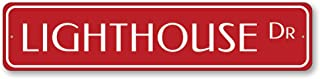 The Lizton Sign Shop Lighthouse Dr Sign, Custom Beach Street Sign, Ocean Lover Gift, Beach House Decor, Metal Sea Home Decoration - Quality Aluminum - 4