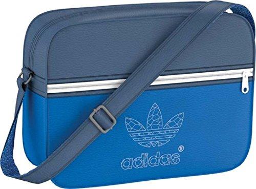 adidas Tasche Originals Airliner Classic Street, Bluebird/Dark Marine/White, 38 x 12 x 28 cm, 17.2 Liter, S20090