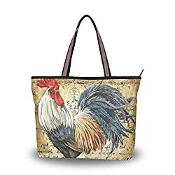 Purses with rooster on it are perfect gifts for chicken lovers