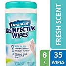 Clean Cut Disinfecting Wipes, Fresh Scent, 35 Wet Wipes, 6-Pack, Kills 99.9% of Bacteria, Multi-Surface Cleaning Wipes, Great for Kitchens, Bathrooms, Offices, and Classrooms