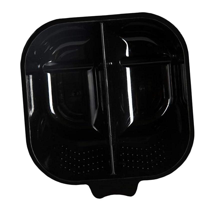 戻す成果流用するヘアカラーリング用品 ヘアカラーボウル ヘアカラープレート 毛染め 染料 混ぜる サロン プロ用品 - ブラック