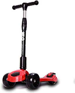 Kids Kick Scooter Widened PU Wheel Scooter for Kids Toddlers Scooter,Adjustable Height Lean To Steer For Children Boys & G...