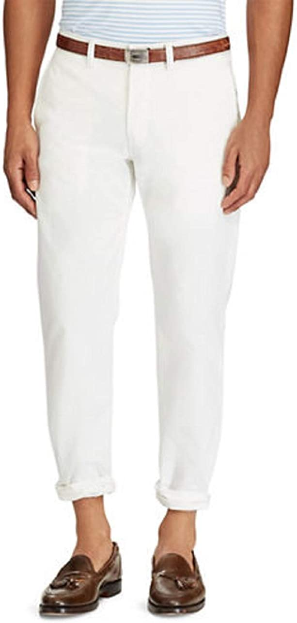 Ralph Lauren Polo Stretch Straight-Fit Chino Pants-WHITE-30X30