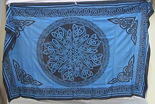 4Rissa Blue Celtic Knot Mandala Tapestry Wall Hanging Bedspread