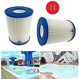 SYANO Bestway 58094 - Cartuchos de filtro para piscina, tamaño II, filtro de hidromasaje, filtro de esponja tipo 2, reutilizables y lavables (8 unidades)