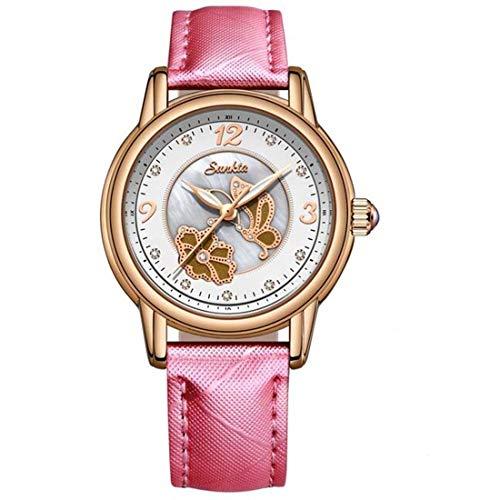 SUNKTA Women Reloj De Pulsera Luxury-Fashion Stainless Steel Quartz Analogous 6606