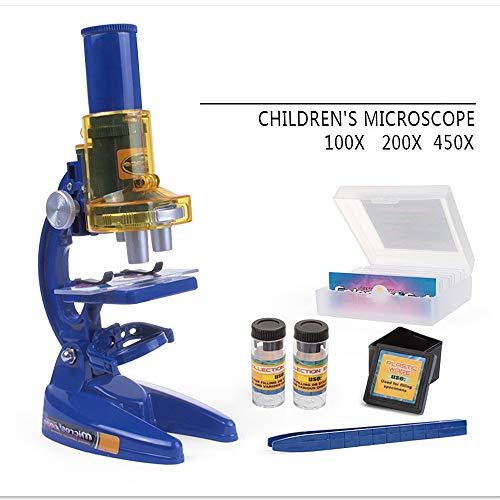 Kanqingqing Microscopio para Niños Microscopio parlante de Información educativa: Características científicas - ¡Prepárese para niños en Edad Preescolar! Regalos de Juguetes educativos