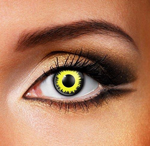 Funky Vision Kontaktlinsen - 3 Monatslinsen, Solar Eclipse, Ohne Sehstärke, 1 Stück