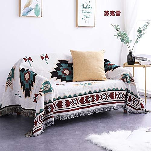 N\A Mantas para Sofa, Bed Plaid Tapices Tapa de Cola Mantel Bohemio Bohemio Hilo de Hilo Manta en la Cama Sofá Toalla Suave Plaid Manta con Mangas (Color : A, Size : 160x300cm)