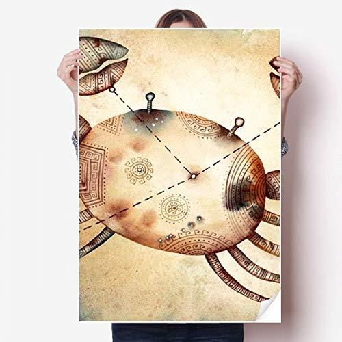 DIYthinker juni juli kanker sterrenbeeld dierenriem Vinyl muur Sticker Poster muurschildering behang kamer Decal 80X55Cm