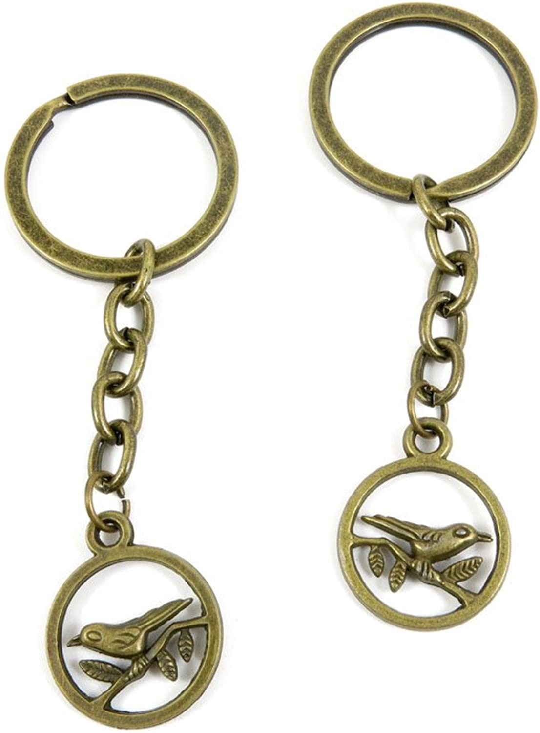 190 Pieces Fashion Jewelry Keyring Keychain Door Car Key Tag Ring Chain Supplier Supply Wholesale Bulk Lots A9CK3 Bird