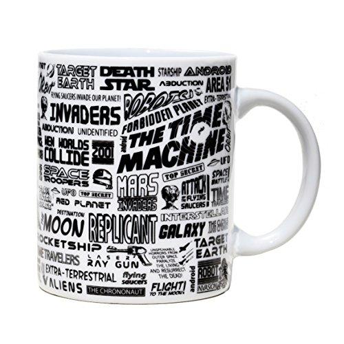VOODOO ISLAND Tasse mug Petit-déjeuner de Porcelaine Blanche 30 cl. Modèle Science-Fiction