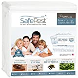 SafeRest Premium Box Spring Encasement - Lab Tested Bed Bug Proof, Dust Mite Proof and Waterproof - Breathable, Noiseless and Vinyl Free (Fits 6 - 9 in. H) - Twin Extra Long (XL) by SafeRest mattress protector twin Apr, 2021