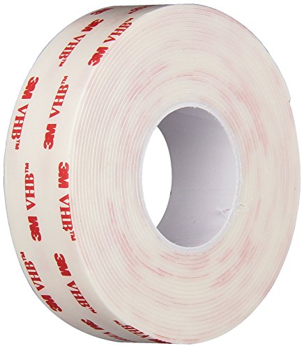 3M - 1114112 - 1113996 VHB 4950 Heavy Duty Mounting Tape - 1 in. x 15 ft. Permanent Bonding Tape Roll with Acrylic Foam Core. Tapes and Adhesives