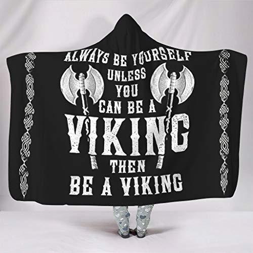 Mentmate Store Manta Viking Saying, grande, portátil, retro, universal, apta para silla de sofá para adultos/mujeres/hombres, regalo blanco, 150 x 200 cm