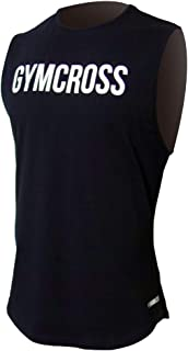 GYMCROSS ジムクロス トレーニング フィットネスウェア プリントノースリーブシャツ【メンズ】gc-085-098