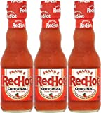Frank's Red Hot Cayenne Pepper Sauce, 5oz Glass Bottle (Pack of 3, Total of 15 Oz)
