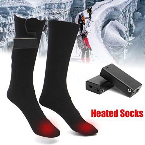 HelloCreate 1 paar elektrische verwarmde sokken voeten warmer verwarming winter warme sokken batterij aangedreven