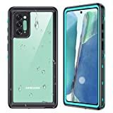 Ruky Galaxy Note 20 Waterproof Case, Underwater Full Body Cover with Built-in Screen Protector Fingerprint Unlock Clear Sound Heavy Duty IP68 Waterproof Phone Case for Samsung Note 20 6.7' 5G, Teal