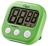 Ozeri KT1-L Kitchen Timer, 3.25in x 0.75in x 3 in, Lime Green