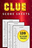 Clue Score Sheets: Pocket Size 6' x 9' inches / Makes a Great Gift for Kids, Family or Adult Game Night / Clue Score Cards and Pads