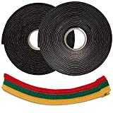 Hook and Loop Strips with Adhesiv - 1' x 10 Feet Industrial Strength - Heavy Duty Tape + 10 Reusable Cable Ties