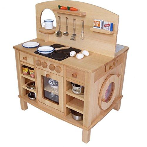 Kinder-Spielküche Cinderella 2050-4-seitig bespielbar - mit 4 Feststellrollen - 2