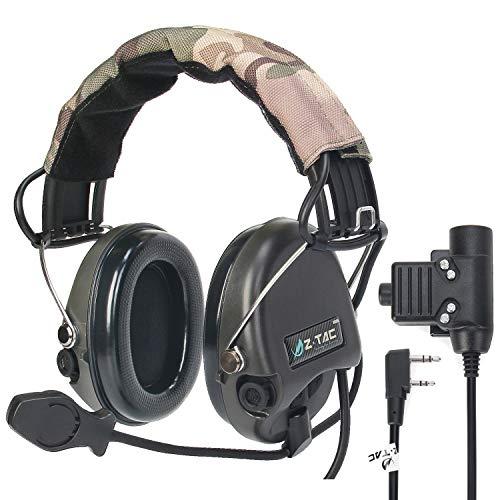 ZTAC Sordin - Auriculares de diadema deportivos, con PTT Kenwood, con micrófono...