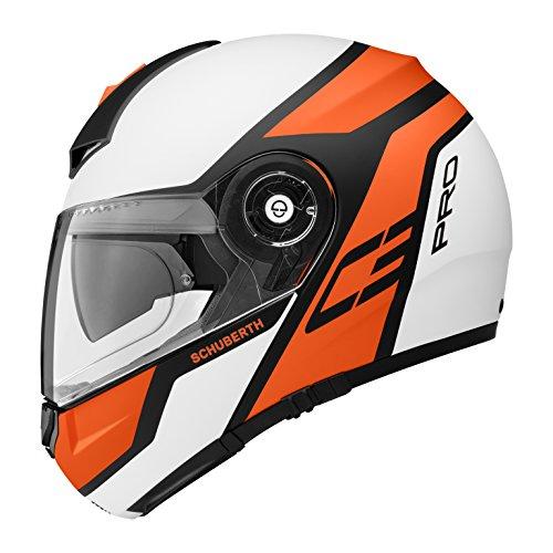 Schuberth C3 Pro Echo Orange - Motorrad Klapphelm, 55 S