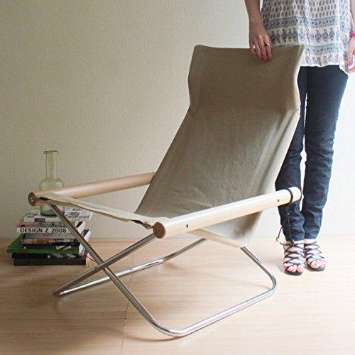 【正規ライセンス】Ny chair X 「ニーチェア エックス」ベージュ                  【デザイナー:新居猛】【MOMA】【折り畳み】【ラウンジチェア】【読書】【アームチェア】