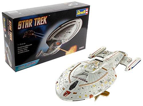 Revell Modellbausatz Star Trek - U.S.S. Voyager NCC-74656 im Maßstab 1:670, Star Trek Voyager, Level 4, originalgetreue Nachbildung mit vielen Details - 04801