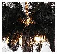 フロアランプ 現代のLEDフロアランプリビングルームホテルツェッペリン髪フロアライト立ちランプ フロアランプ (Color : Black, Size : H 80CM)