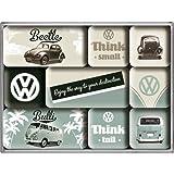 Nostalgic Art Magnet-Set 9-teilig, Volkswagen - Bulli & Beetle - Think Tall & Small