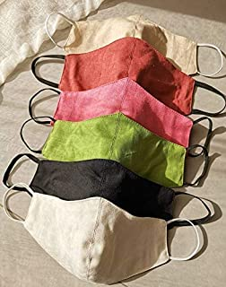 Washable Facemask - 100% Linen Material (Pink)